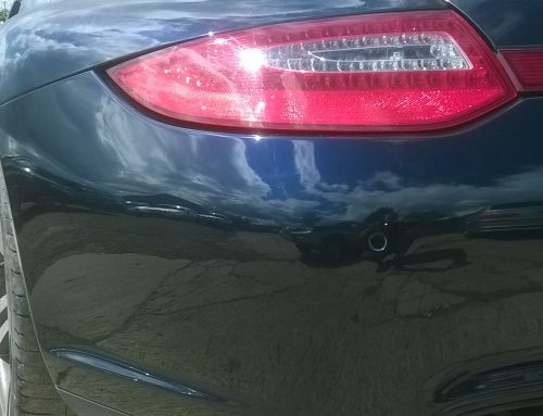 Porsche Rear Bumper Damage Repair